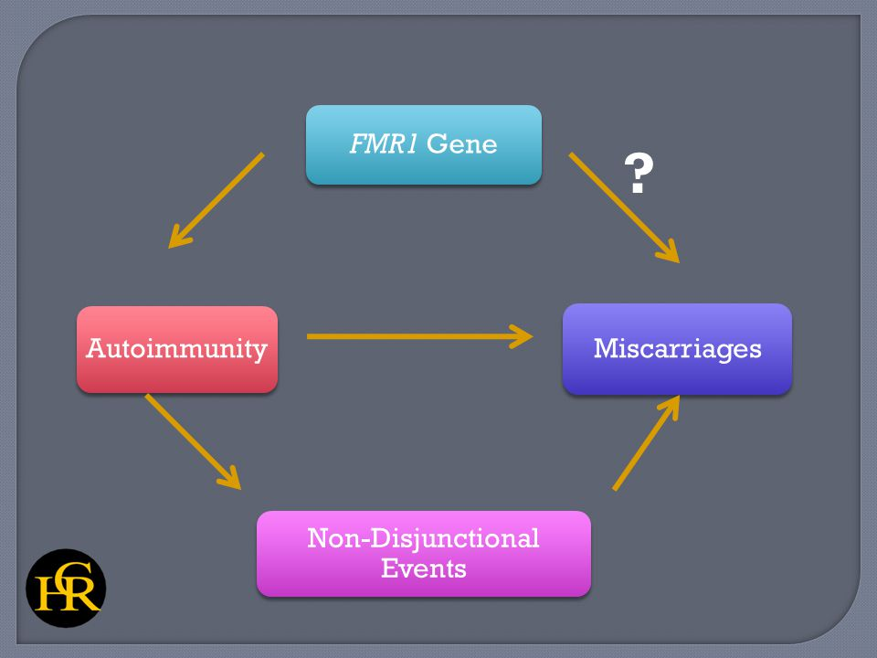 FMR1 Gene Miscarriages Non-Disjunctional Events Autoimmunity ?