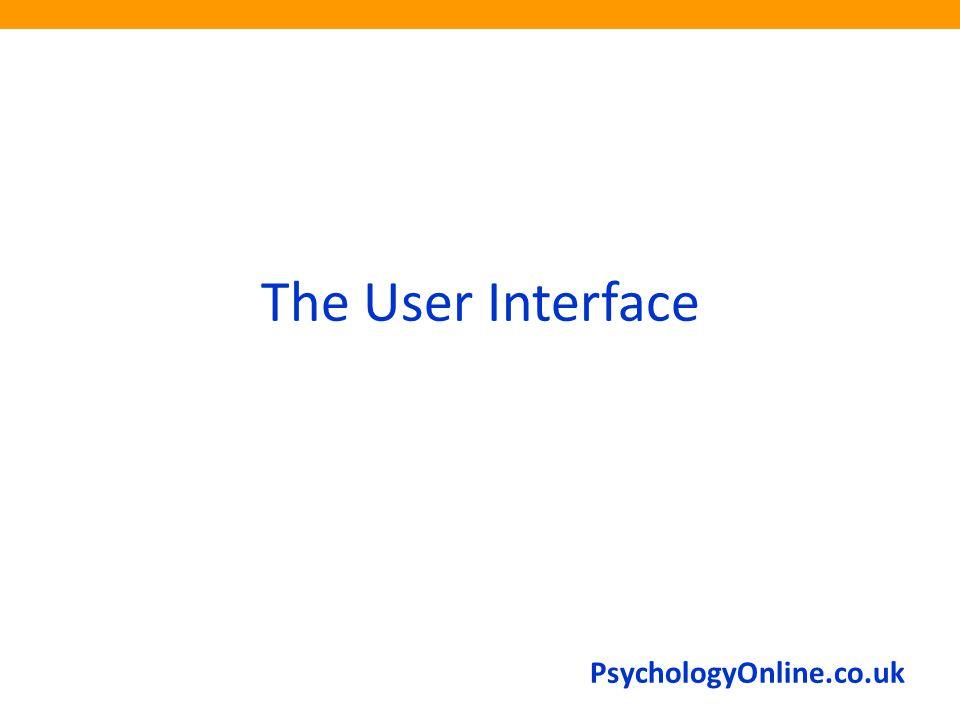 PsychologyOnline.co.uk The User Interface