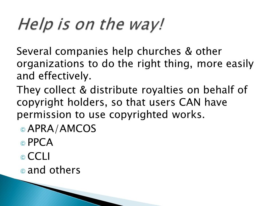 Several companies help churches & other organizations to do the right thing, more easily and effectively.