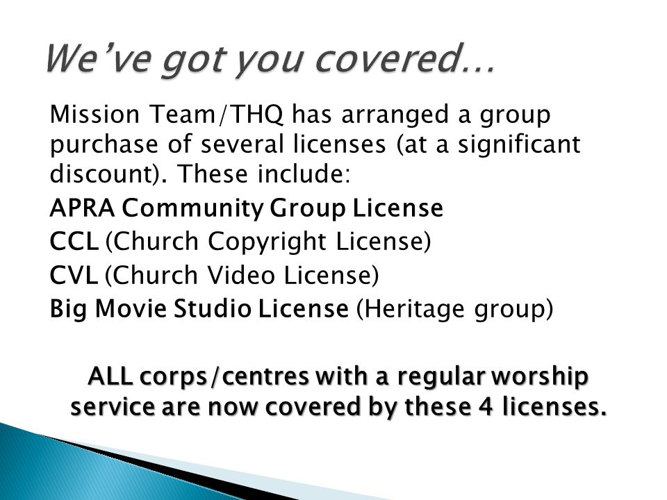 Mission Team/THQ has arranged a group purchase of several licenses (at a significant discount).