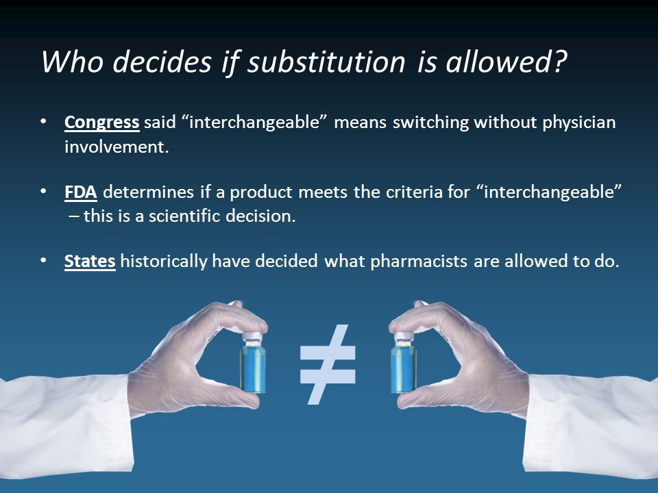 Who decides if substitution is allowed.