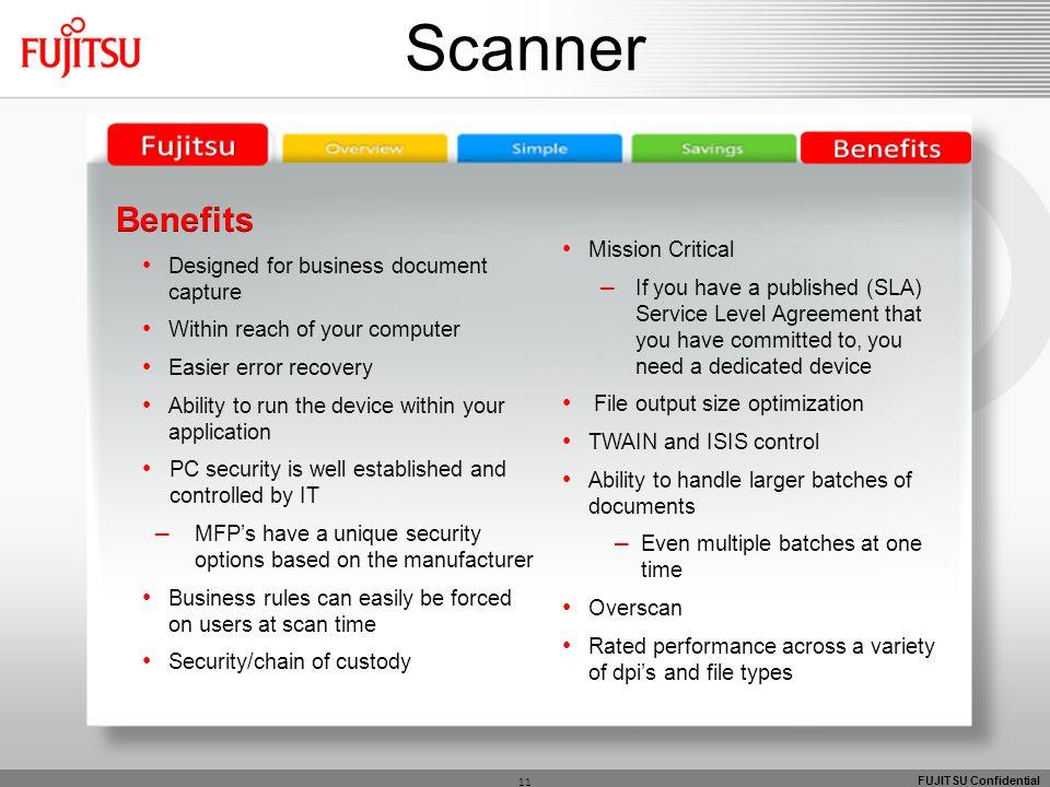 FUJITSU Confidential 11 Scanner