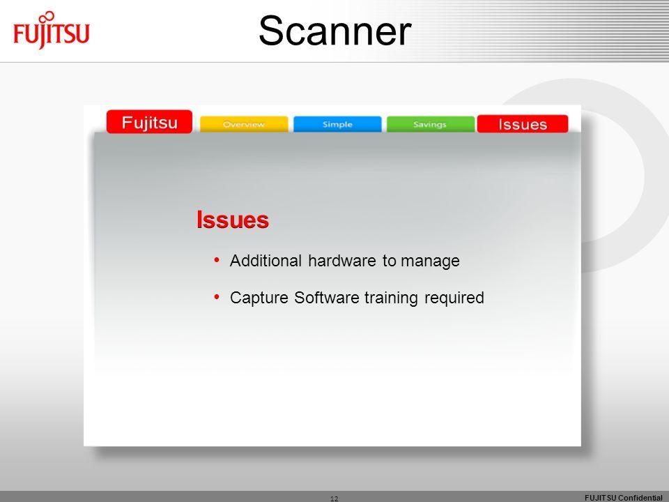 FUJITSU Confidential 12 Scanner