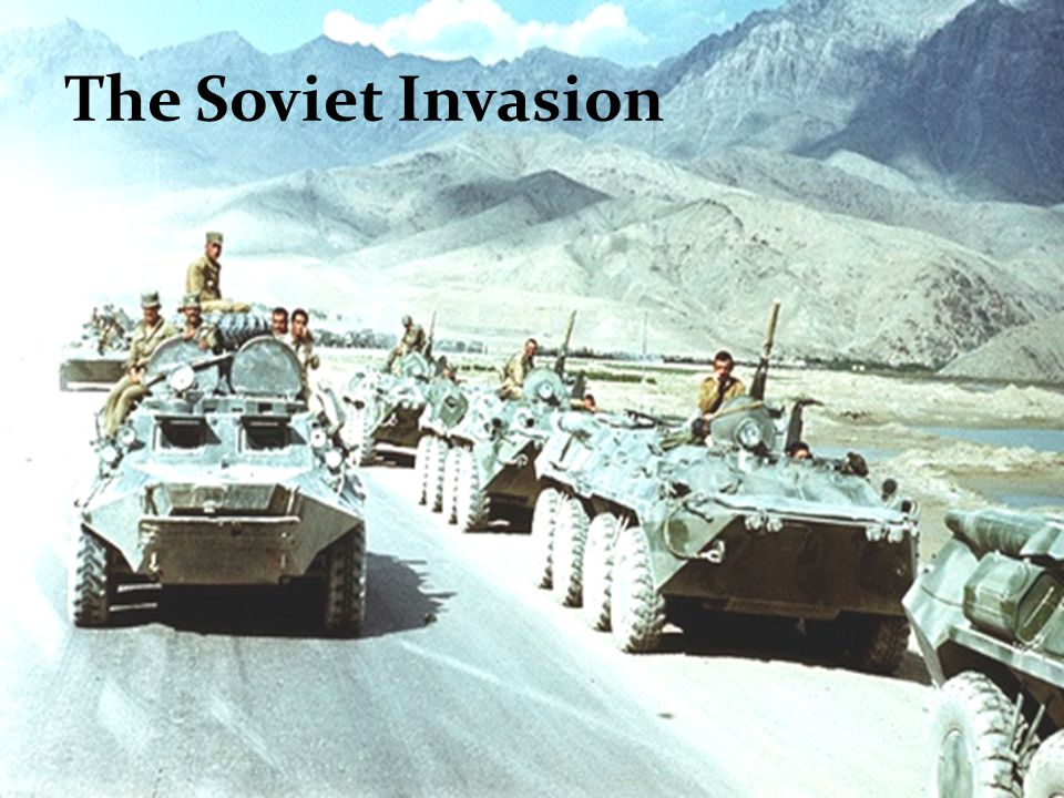 Soviet Union invades Afghanistan December 1979 Afghan government becomes pro-soviet and communist.