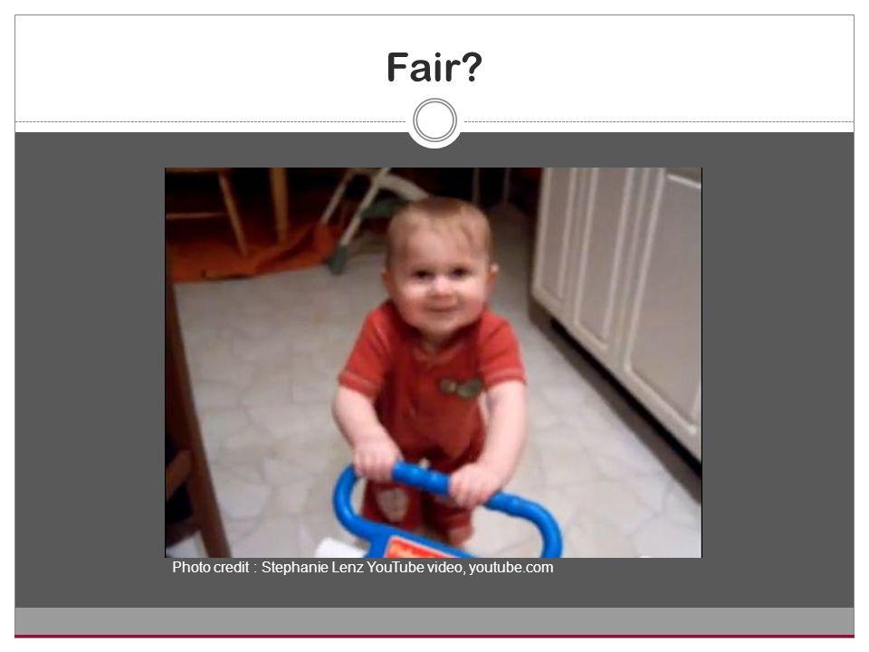 Fair Photo credit : Stephanie Lenz YouTube video, youtube.com