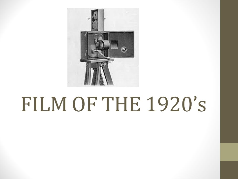 1920'S Films really blossomed in the 1920s, expanding upon the foundations of film from earlier years.