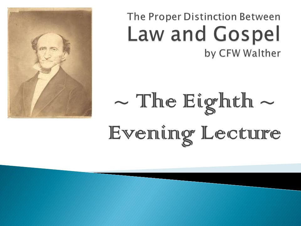 ~ The Eighth ~ Evening Lecture