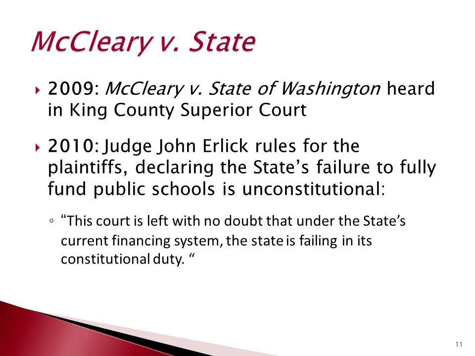  2009: McCleary v.