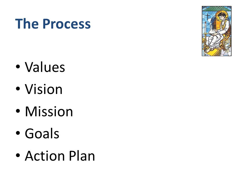 The Process Values Vision Mission Goals Action Plan