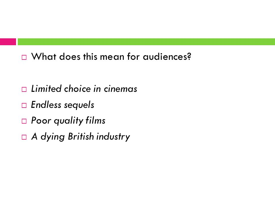  What does this mean for audiences.