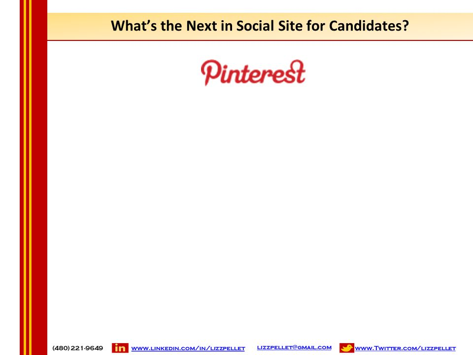 What's the Next in Social Site for Candidates?