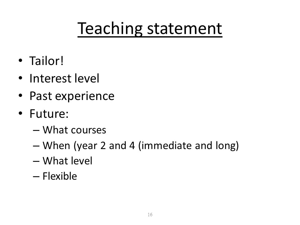 16 Teaching statement Tailor.