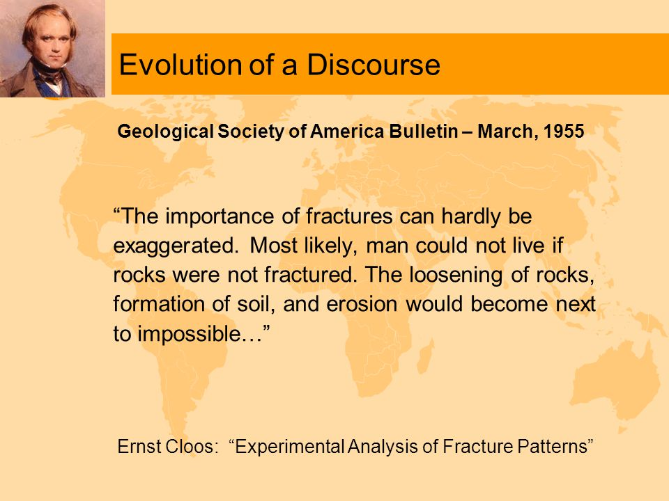 Evolution of a Discourse The importance of fractures can hardly be exaggerated.