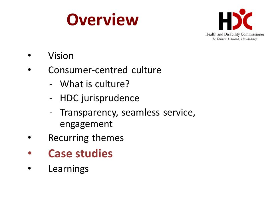 Overview Vision Consumer-centred culture -What is culture.