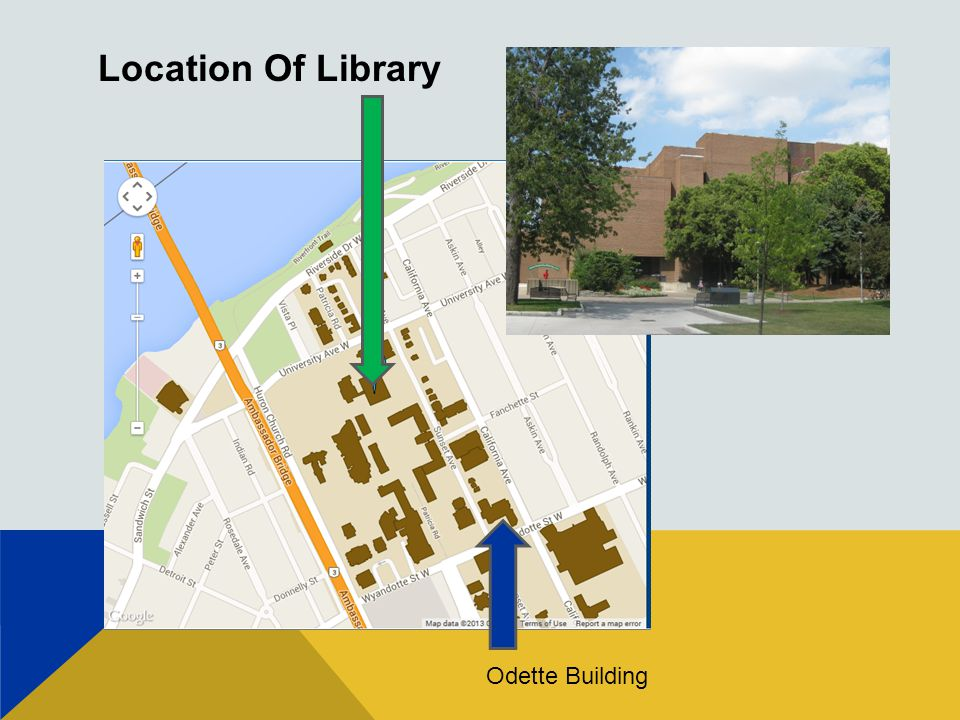 Location Of Library Odette Building