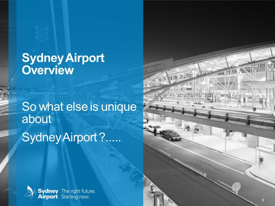 3 Sydney Airport Overview So what else is unique about Sydney Airport ?.....