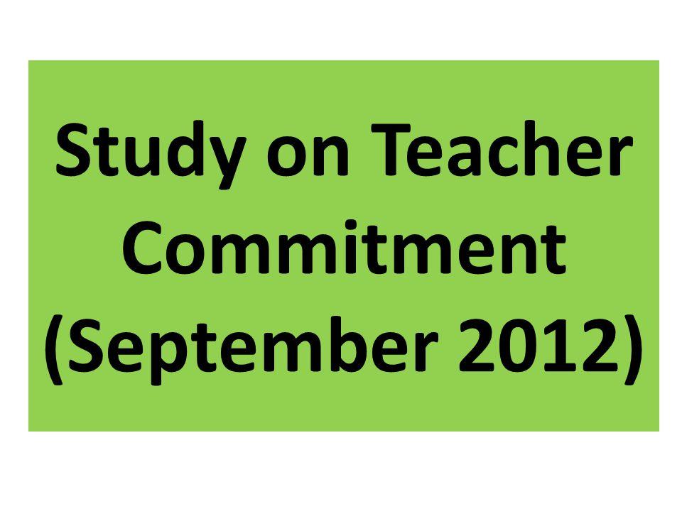 Study on Teacher Commitment (September 2012)