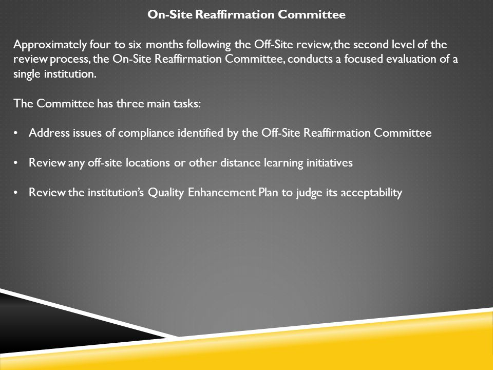 COMPREHENSIVE STANDARD 3.11.2 The institution takes reasonable steps to provide a healthy, safe, and secure environment for all members of the campus community.