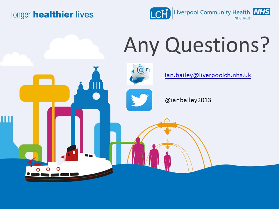 Any Questions? Ian.bailey@liverpoolch.nhs.uk @ianbailey2013