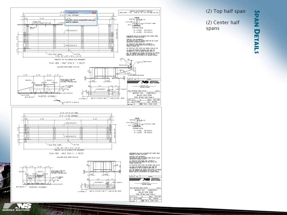 S PAN D ETAILS (2) Top half span (2) Center half spans