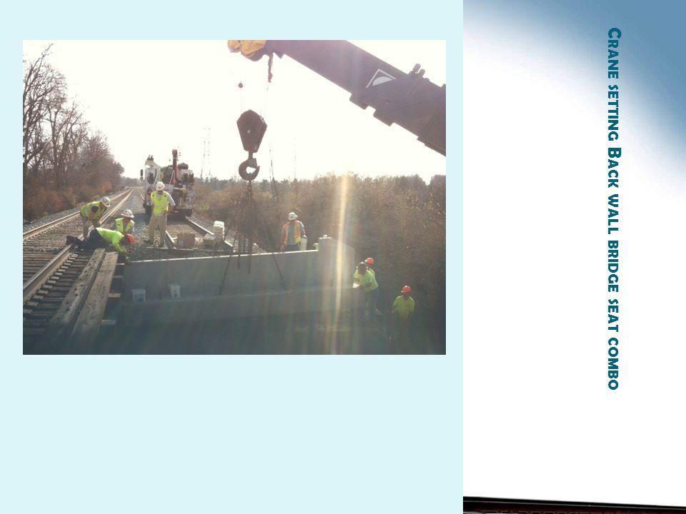 C RANE SETTING B ACK WALL BRIDGE SEAT COMBO