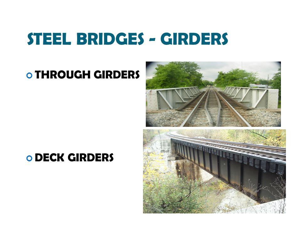 STEEL BRIDGES - GIRDERS THROUGH GIRDERS DECK GIRDERS