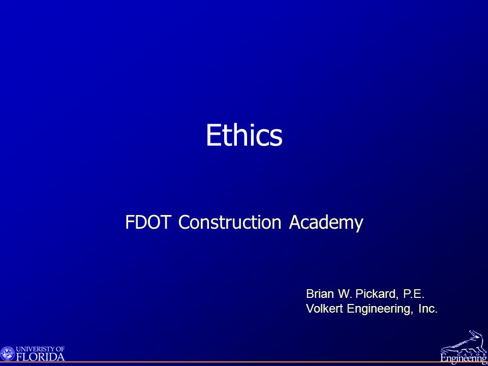 Laws That Require Ethical Conduct Florida statutes Federal laws