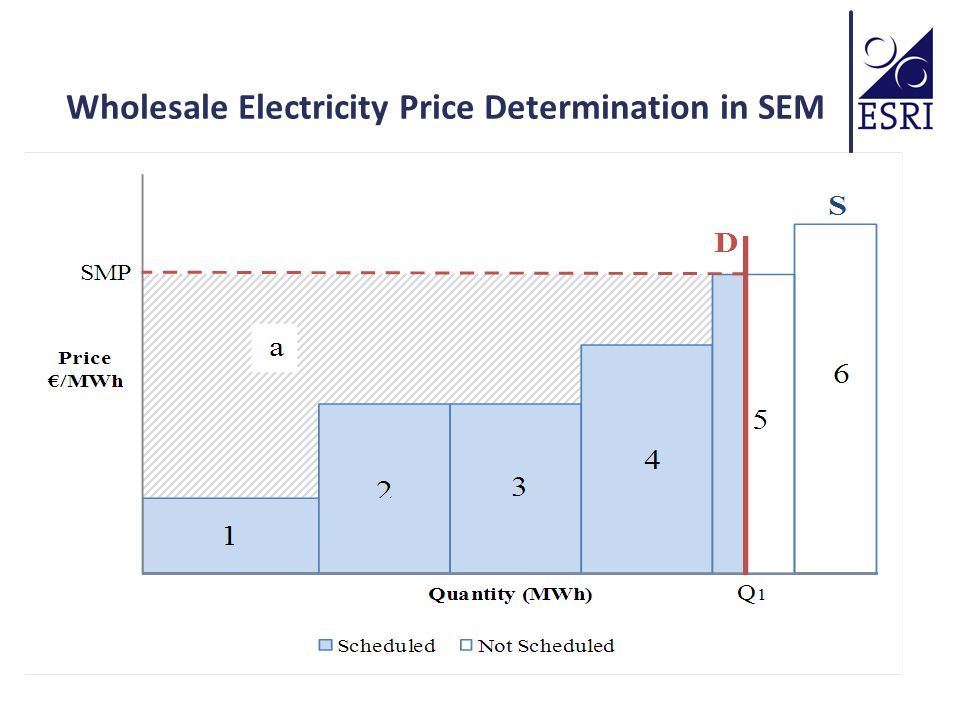 Wholesale Electricity Price Determination in SEM
