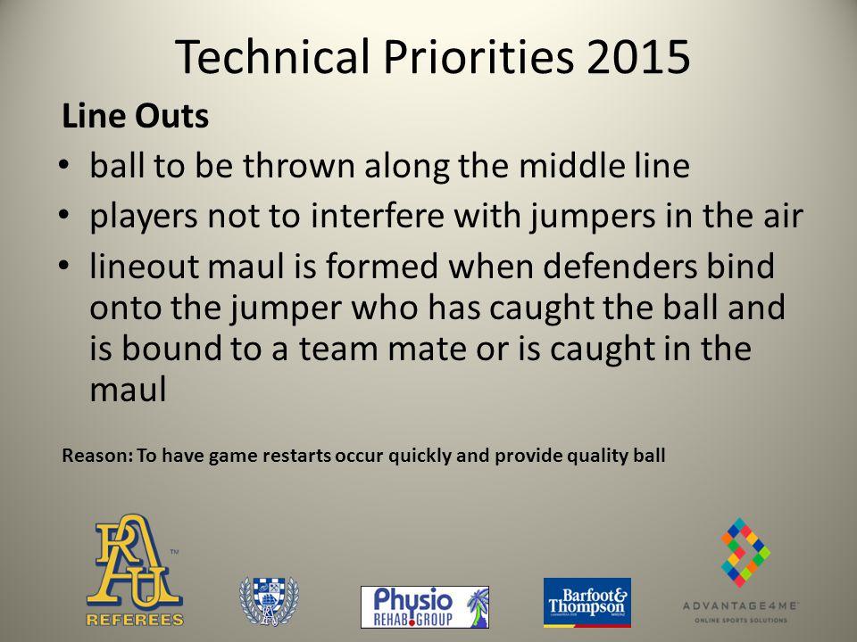 Technical Priorities 2015 4.