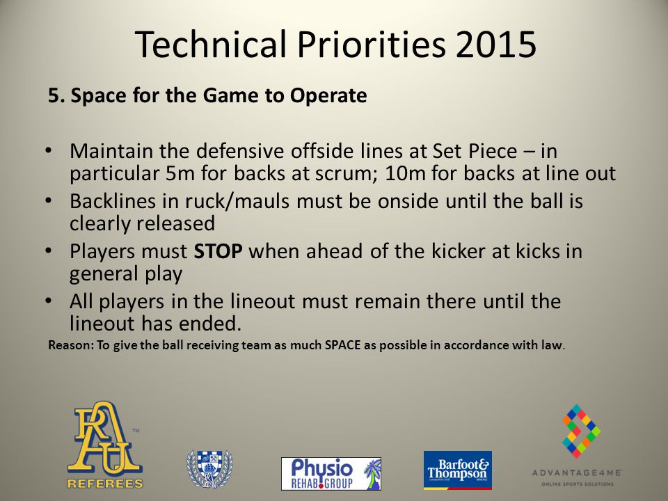Technical Priorities 2015 5.