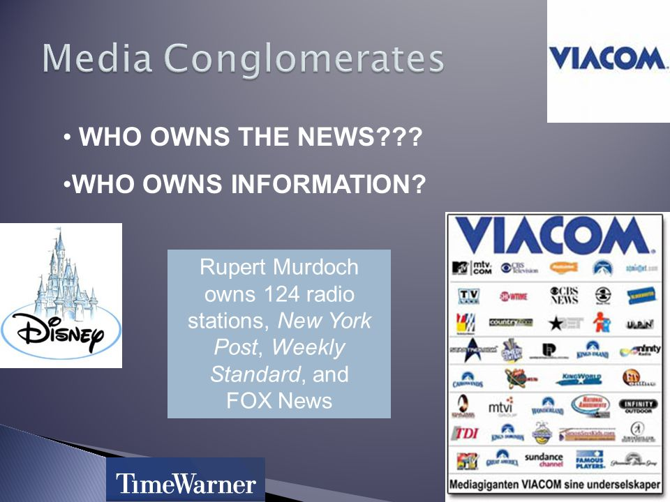 WHO OWNS THE NEWS . WHO OWNS INFORMATION.