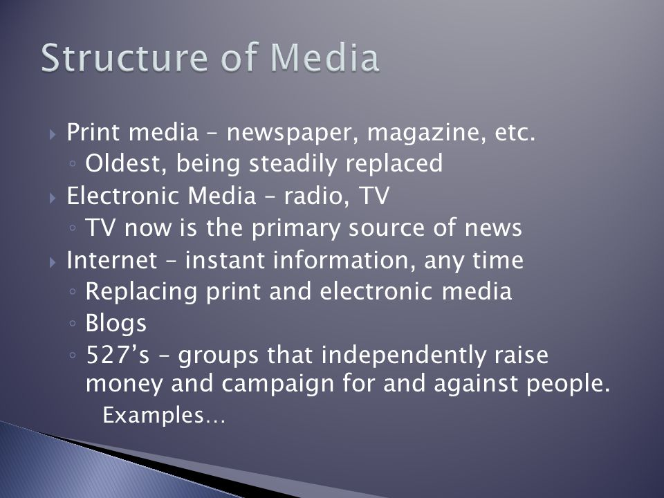  Print media – newspaper, magazine, etc.