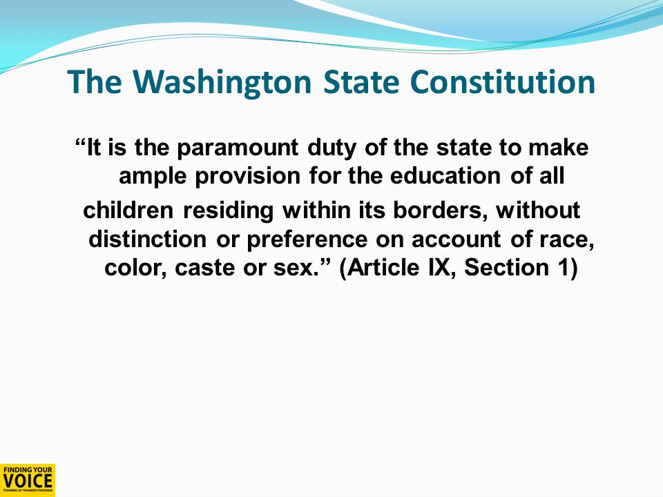 There are 295 school districts in WA There are 2,278 school buildings in WA 1,027,312 students are enrolled in K-12 public schools 75% of all students attend Western WA schools The big picture - Washington State