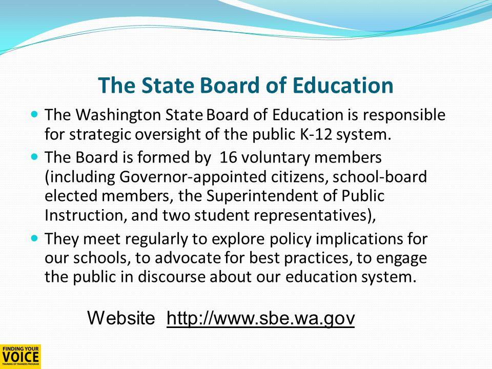 School District Policies and Procedures  School boards develop and adopt policies and procedures for their school district.
