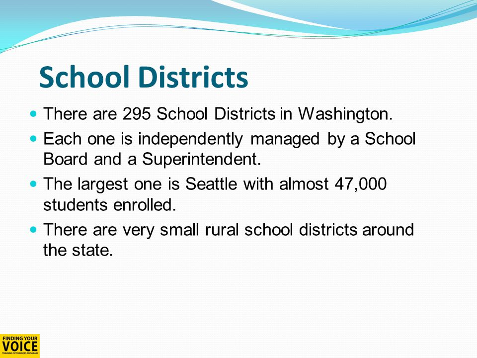 What is local control.Every school district operates independently.