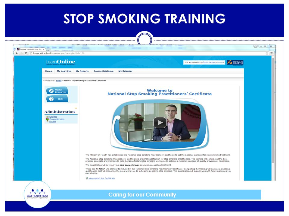 Caring for our Community STOP SMOKING TRAINING
