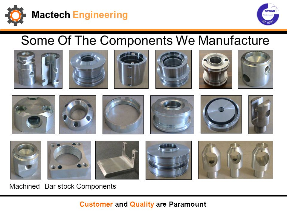 Mactech Engineering Some Of The Components We Manufacture Customer and Quality are Paramount Machined Bar stock Components