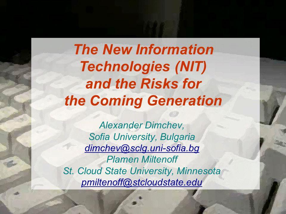Alexander Dimchev, Sofia University, Bulgaria dimchev@sclg.uni-sofia.bg Plamen Miltenoff St.