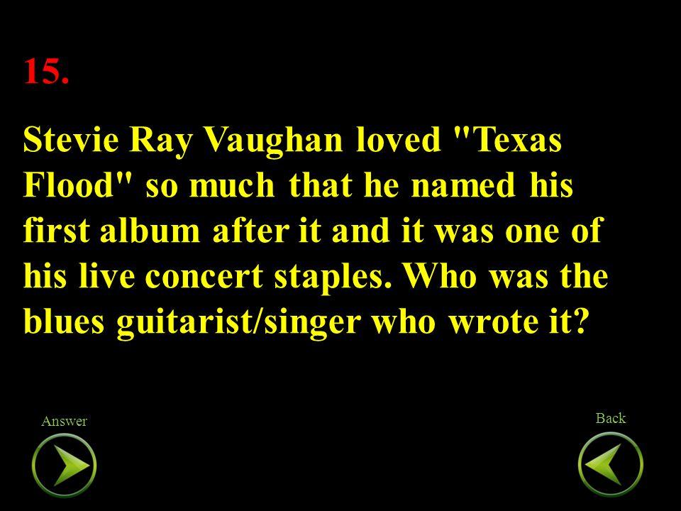 15. Stevie Ray Vaughan loved