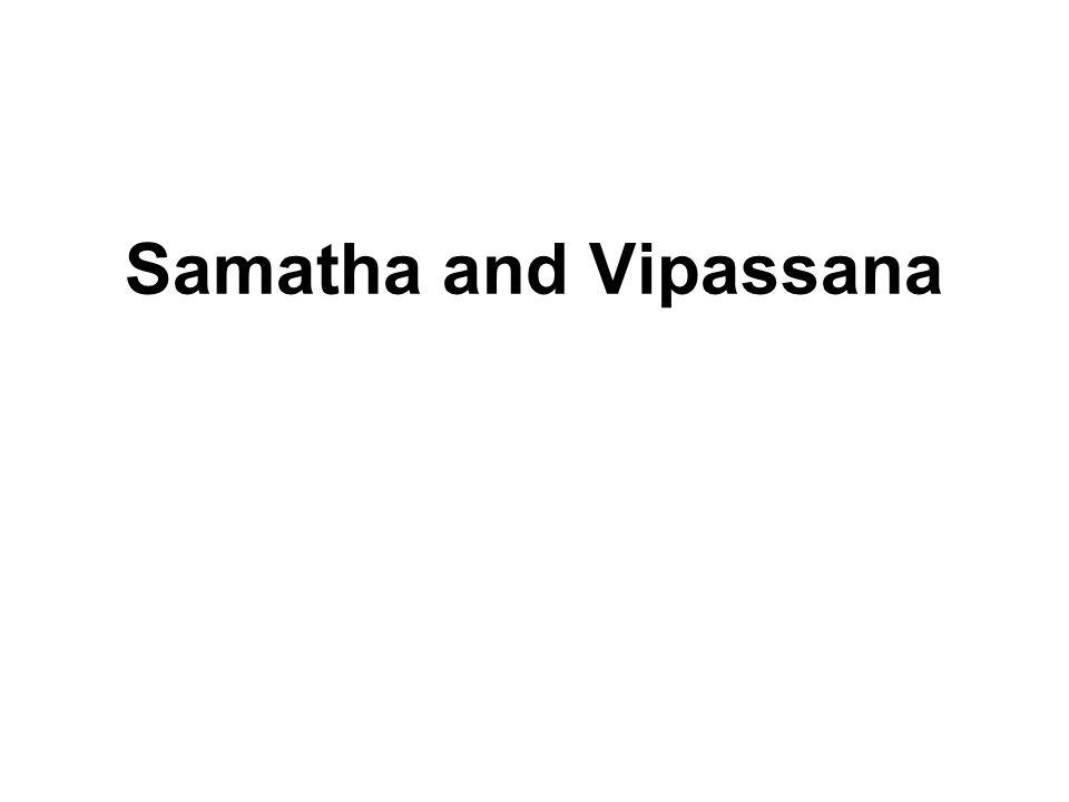 Samatha and Vipassana