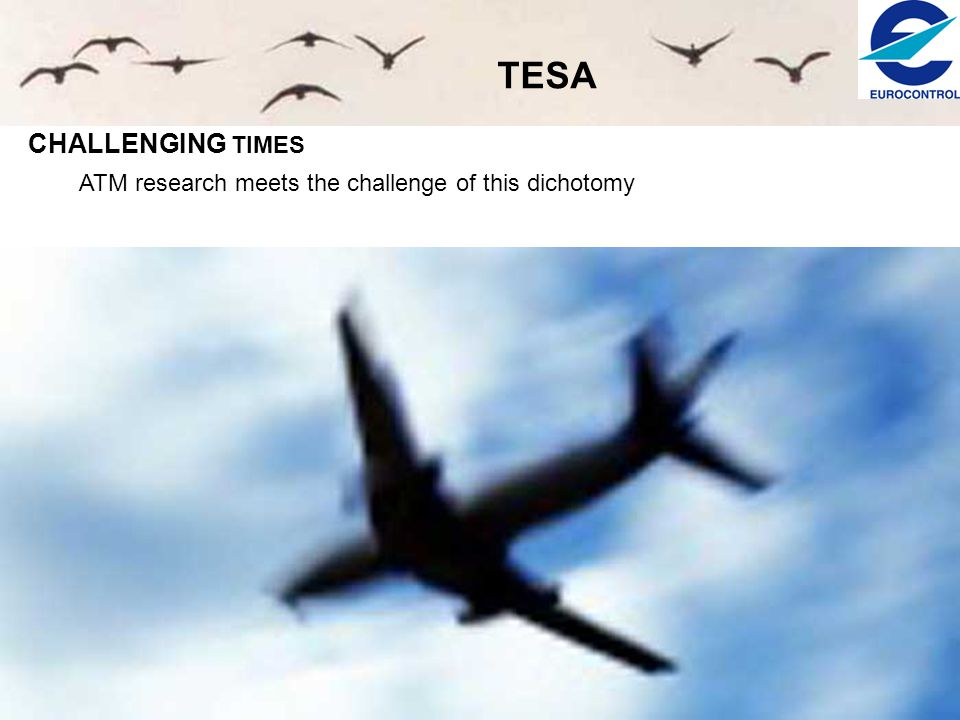 TESA CHALLENGING TIMES ATM research meets the challenge of this dichotomy