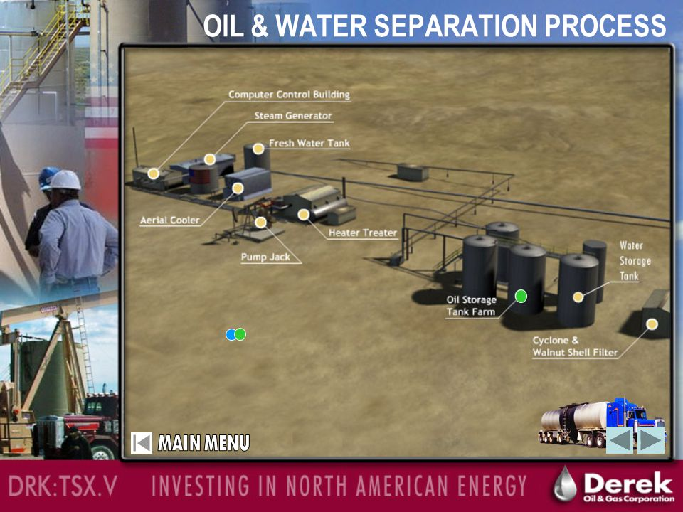 High Quality Oil Characteristics QUALITY OF OIL BEING PRODUCED:  Low Paraffin  Low Sulphur content: <0.5%  Pricing at WTI (West Texas Intermediate) less $7.00 per barrel  Average 19 API gravity oil  Oil characteristics suitable to produce Jet Fuel using catalytic cracking DRK:TSX.V INVESTING IN NORTH AMERICA