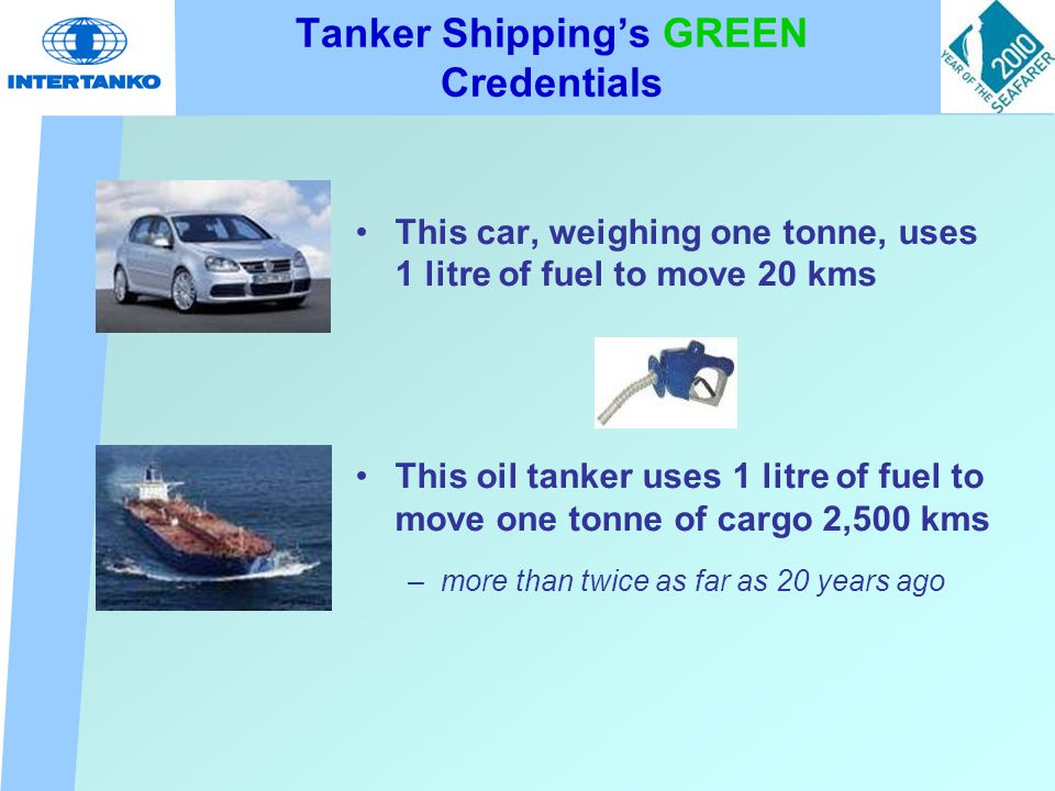 Investment in New Tonnage - Move to Double Hulls More than USD 500 billion invested since 2000 with the result that ~95% of tanker fleet* double hulled by end 2010 * over 10,000 dwt