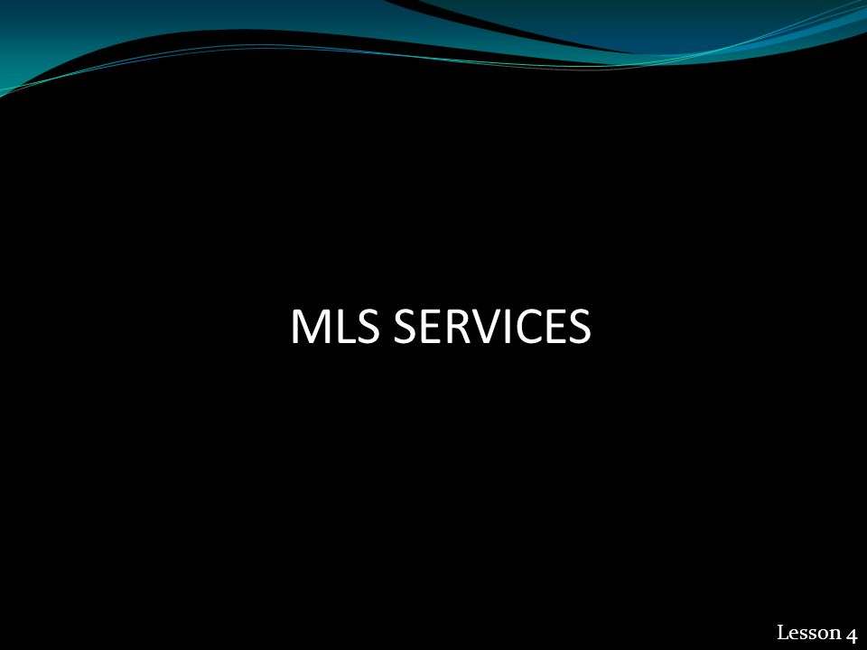 MLS SERVICES Lesson 4