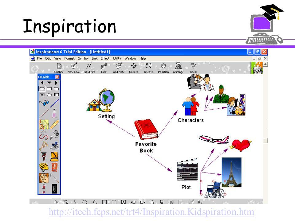 Inspiration http://itech.fcps.net/trt4/Inspiration.Kidspiration.htm