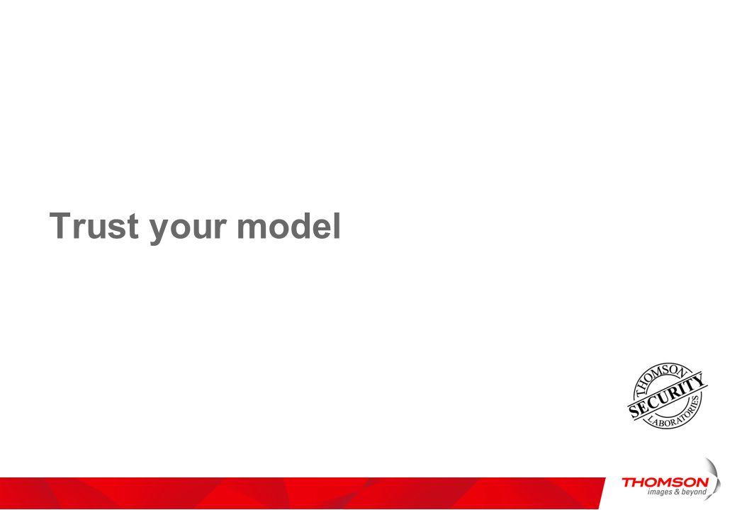 Trust your model