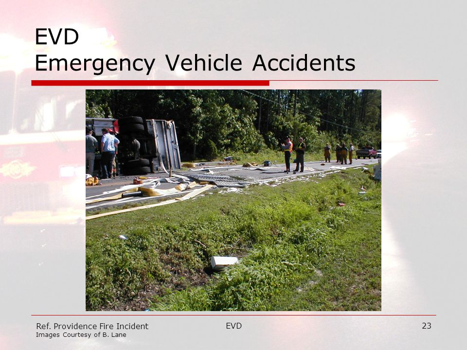 EVD23 EVD Emergency Vehicle Accidents Ref. Providence Fire Incident Images Courtesy of B. Lane