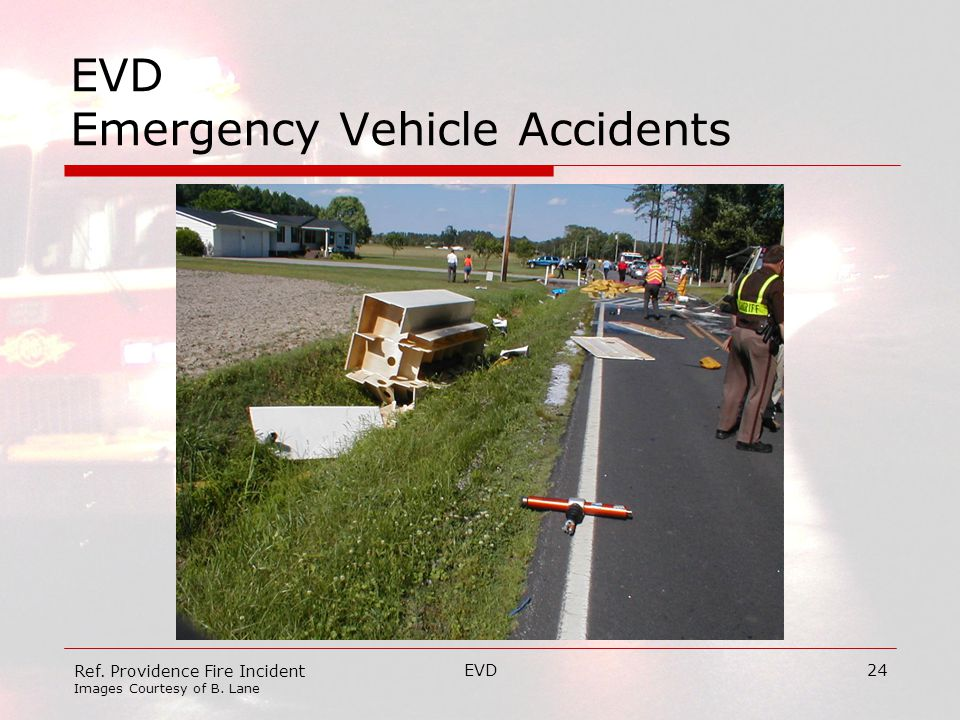 EVD24 EVD Emergency Vehicle Accidents Ref. Providence Fire Incident Images Courtesy of B. Lane