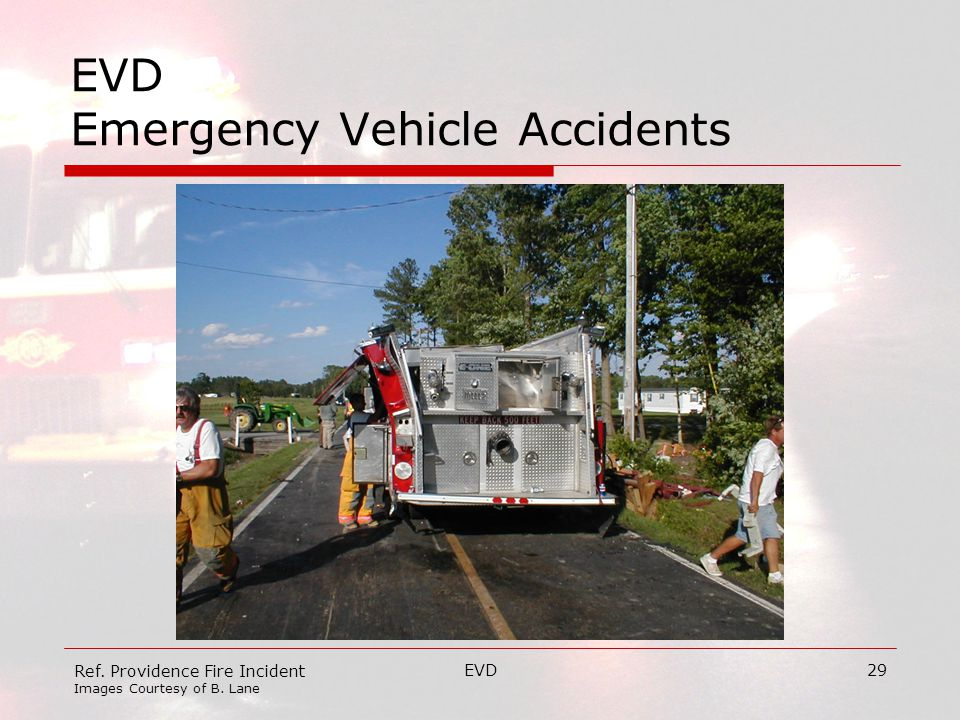 EVD29 EVD Emergency Vehicle Accidents Ref. Providence Fire Incident Images Courtesy of B. Lane
