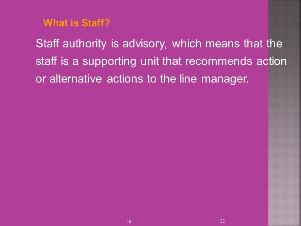 What is Staff.